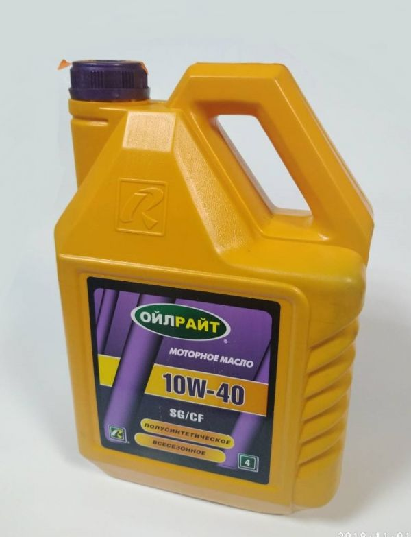 Олива моторна OIL RIGHT 10W40 SG/CD п/с 4л