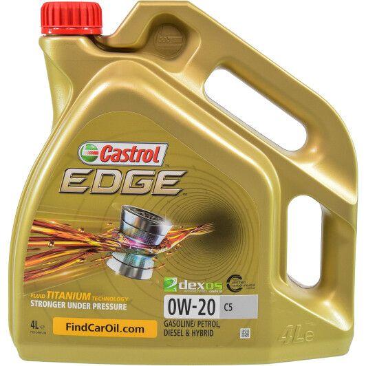 Олива моторна Castrol EDGE 0W-20 C5 (Каністра 4л)
