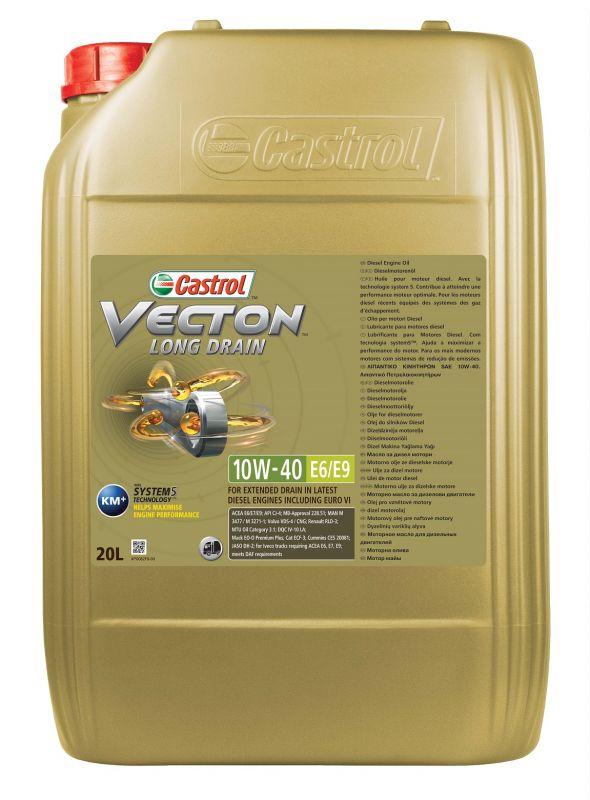 Олива моторна Castrol VECTON LONG DRAIN 10W-40 E6/E9 (Бочка 20л)
