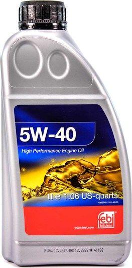 Олива моторна FEBI 5W-40 (Каністра 1л)