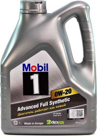 Олива моторна MOBIL 1 0W-20 (Канистра 4л)