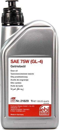 Олива трасмміс. FEBI SAE 75W GL-4 (Каністра 1л)