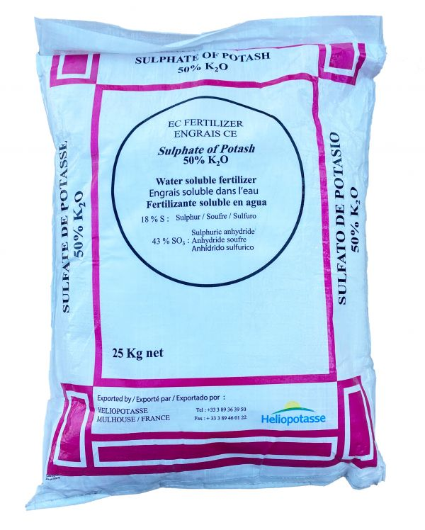Сульфат калію Heliopotasse (Франція) - 25 кг