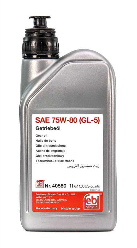Трансмісійна олива   FEBI SAE 75W-80 GL-5 (Каністра 1л)